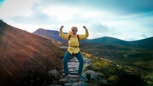 Ginger's jubilant hike