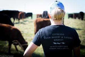 Deanna at farm