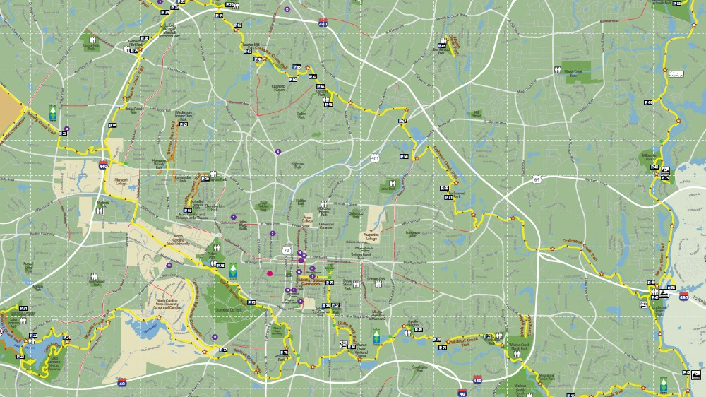 Greenway map of Raleigh
